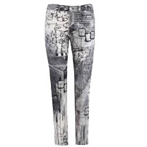 Dolcezza Jeans Woman's Graffiti Print Jeans